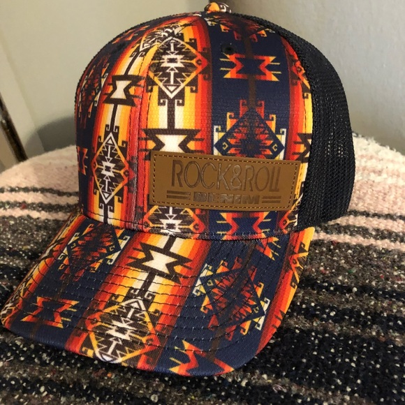 Aztec Rock and roll denim hat. M 5ba2de932e1478973f42914b b3ef468eabe